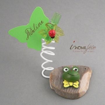 Grenouilles vertes en bois /24 - Label Fête