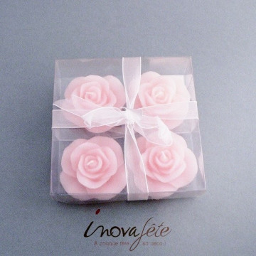 Bougies roses /4