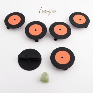 Pince disque orange et noir /6