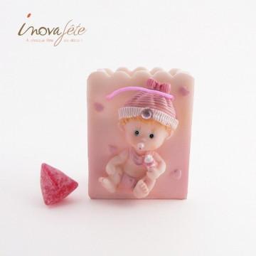 Pot à dragées bébé rose