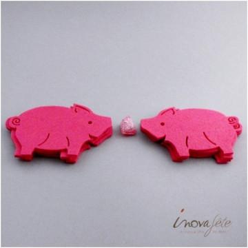 Cochon en feutre rose /8 - Label Fête