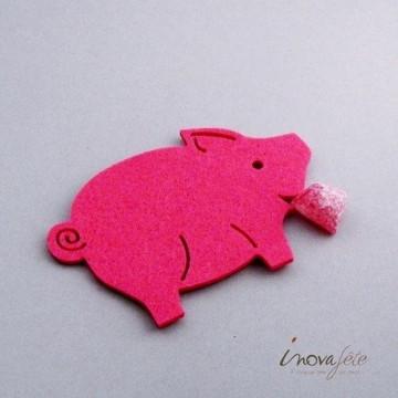 Cochon en feutre rose /8
