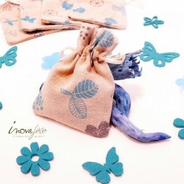 Fleur et papillon en feutre turquoise /16