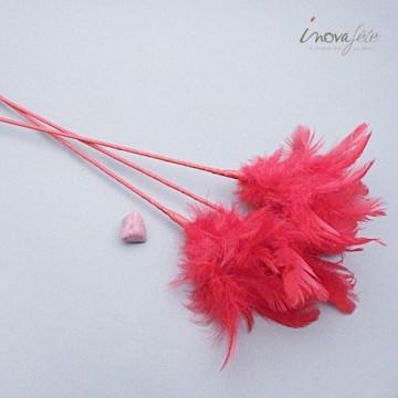 Décoration Coeur orange /12