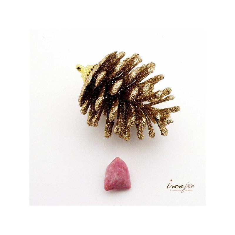 Pomme de pin or pailletées /6