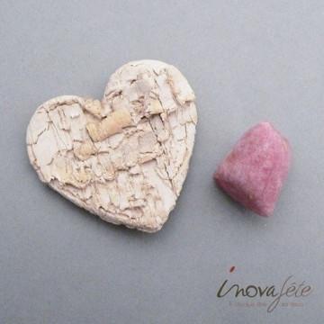 Cœur en écorces ivoire /25 - Label Fête