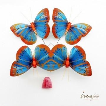 Papillon bleu sur tige /6