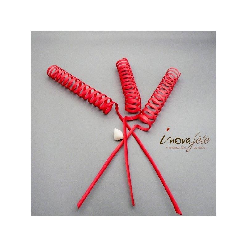 Bâton tourbillon rouge /10