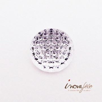 Demi perle ronde granitée /20