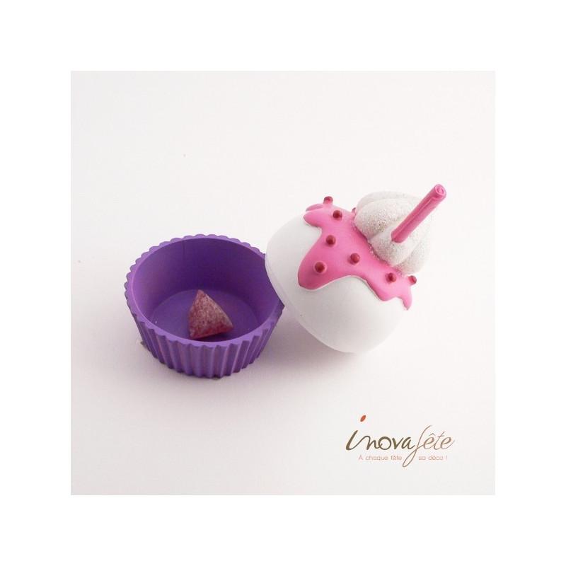 Boîte coupe dessert meringué, le cup cake de votre candy bar