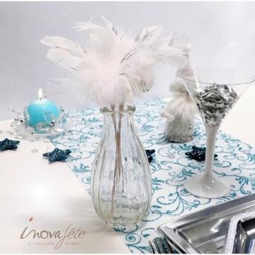 Petite bouteille vase transparente - Label Fête