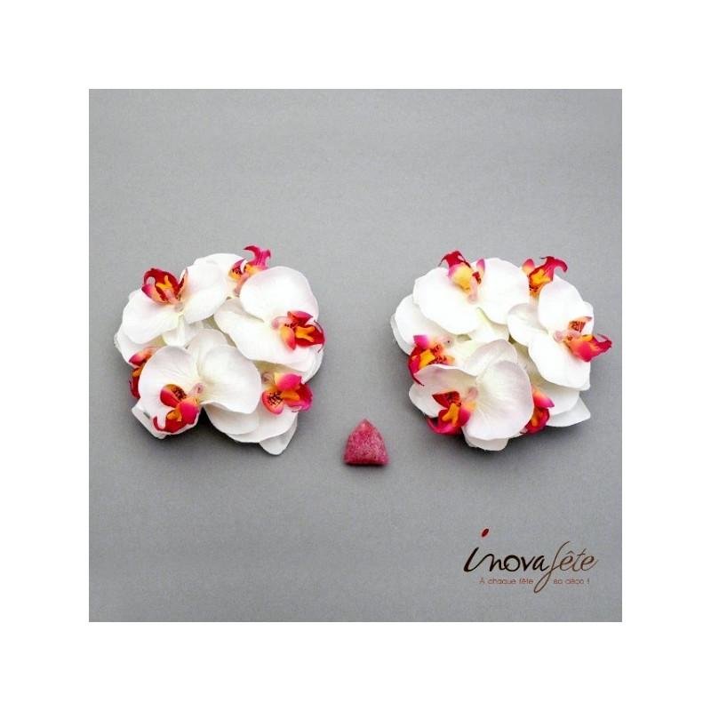 Orchidée blanche /12, le succès de votre décoration de table