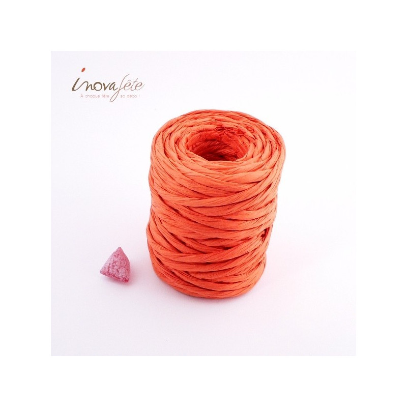 Corde de papier orange