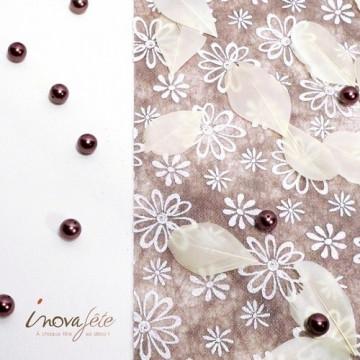 Plume plate ivoire - Label Fête