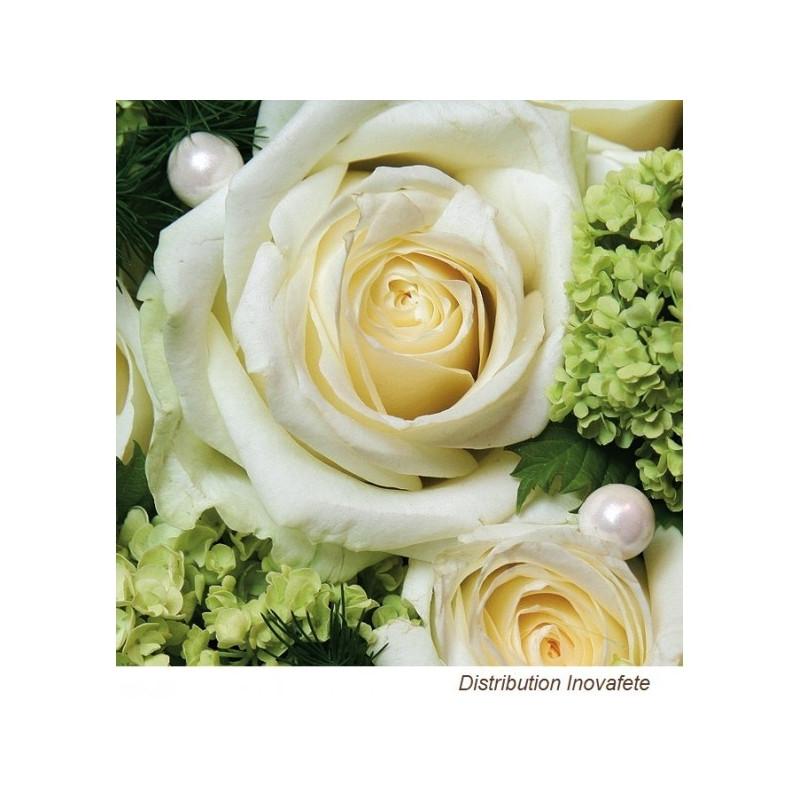 Serviettes papier décor mariage 33x33 cm