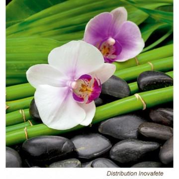 Serviettes papier décor orchidée 33x33 cm