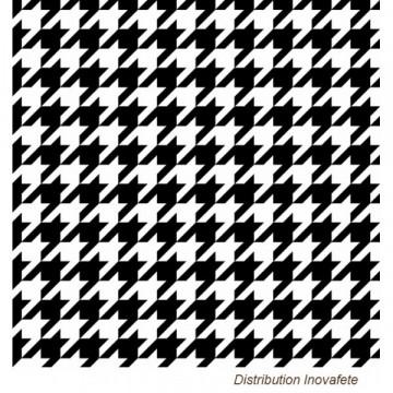 Serviettes papier pied de poule noir & blanc 33x33 cm