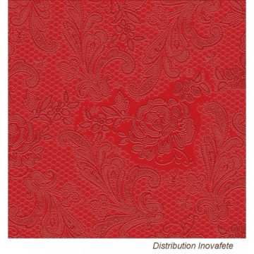 Serviettes papier Rouge décor chic 33x33 cm