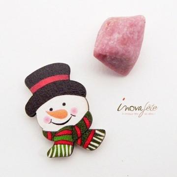 Tête de bonhomme de neige /12, lincontournable de votre table hiver