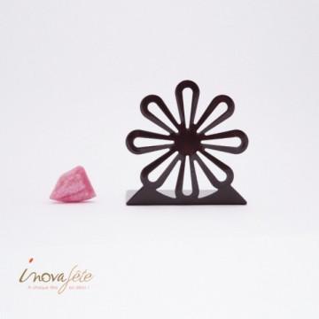 Fleur métal chocolat