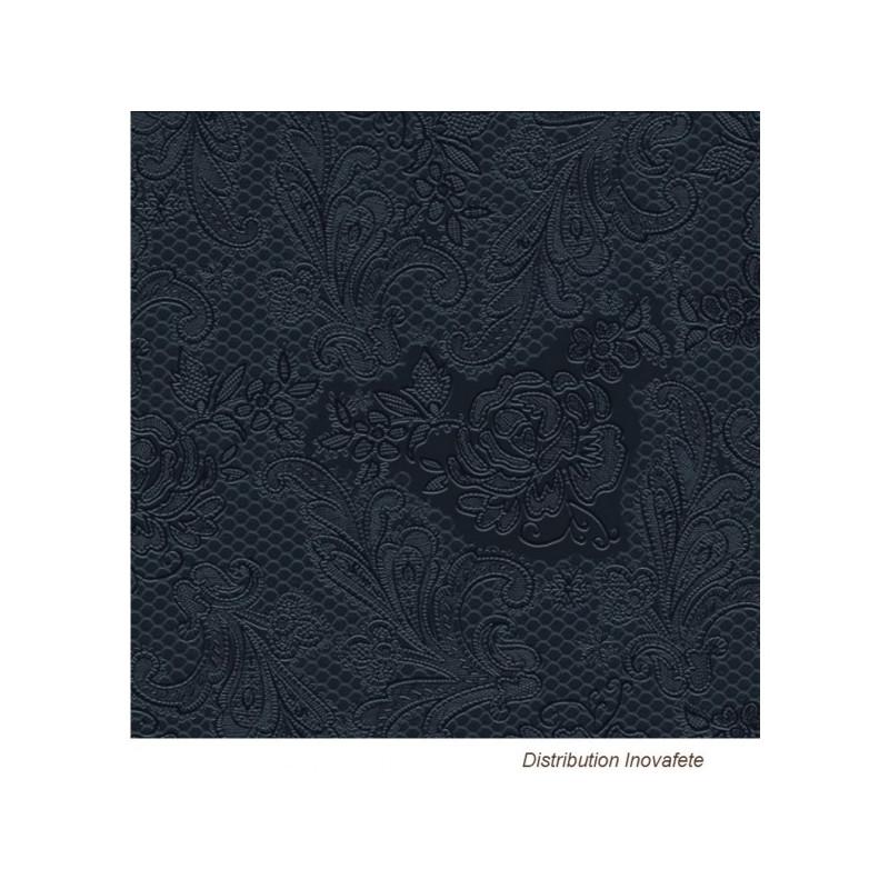 Serviettes papier Noir décor chic 33x33 cm