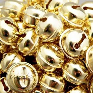 Grelots dorés /20, la décoration de fête mélodieuse