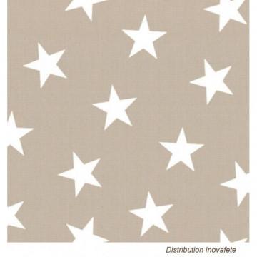 Serviettes papier décor étoiles 33x33 cm