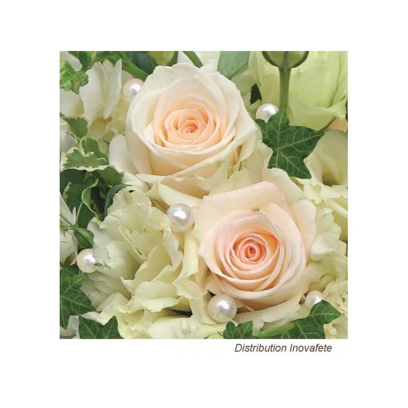 Serviettes papier décor mariage 33x33 cm - Label Fête