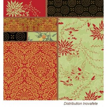 Serviettes papier décor Oriental 33x33 cm