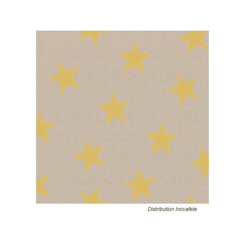 Serviettes papier décor étoiles or 33x33 cm