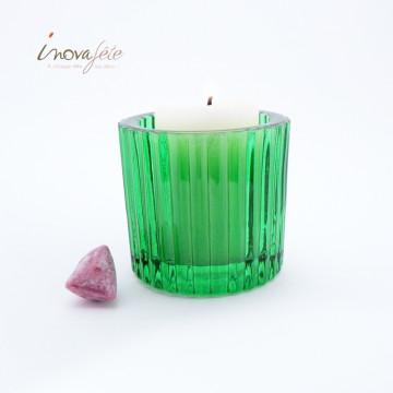 Photophore vert émeraude - Label Fête