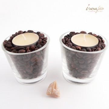 Photophore grains de café, bougie vanillée /2