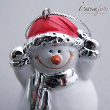 Bonhomme de neige en céramique