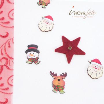Tête de bonhomme de neige /12 - Label Fête