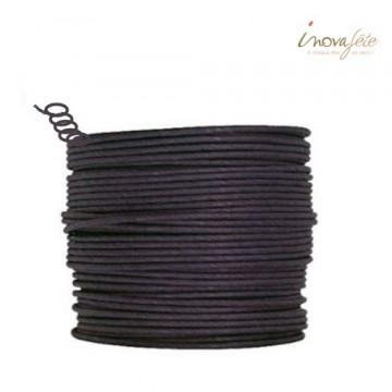Fil cordon rigide noir