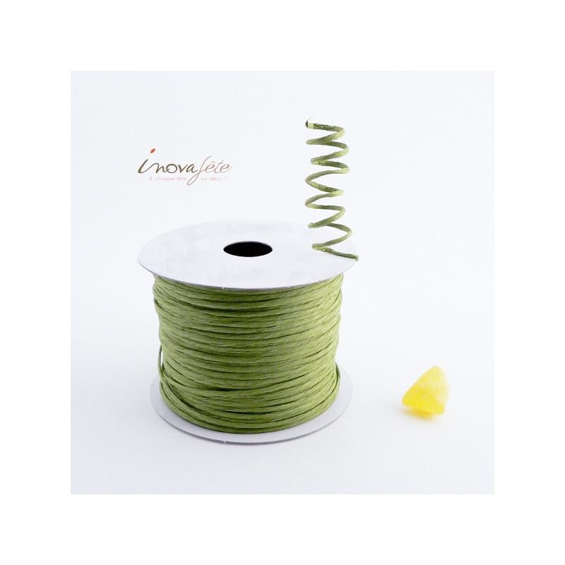 Fil tourbillon cordon rigide vert olive