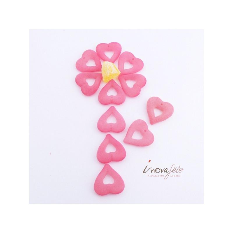 Décoration Coeur rose Label Fête