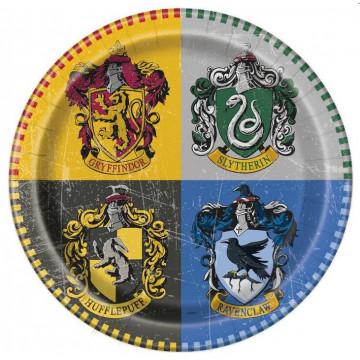 Assiettes lunch en carton Harry Potter Label Fête Hillion 59105