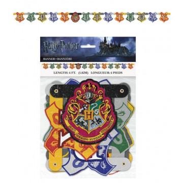 Guirlande banderole Anniversaire Harry Potter happy birthday 59080