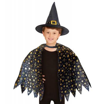 Cape et chapeau enfant sorcier sorcière Label Fête Hillion