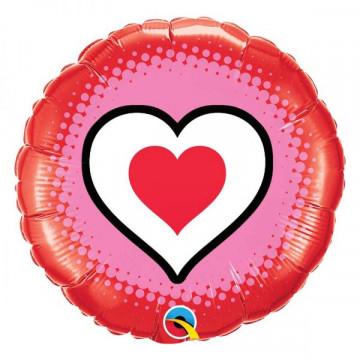 Ballon rond motif Coeur Qualatex 78545