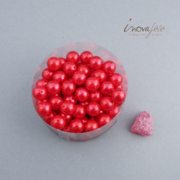 Perle boule rouge Label Fête Hillion