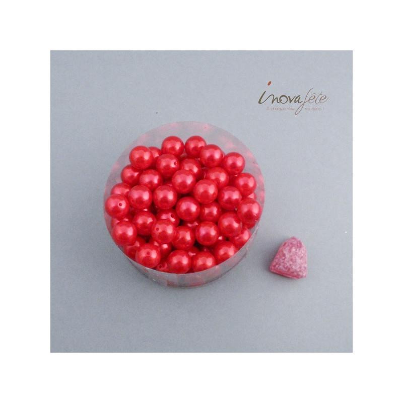 Perle boule rouge Label Fête Hillion