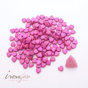 Mini Perle coeur rose fuchsia Label Fête Hillion