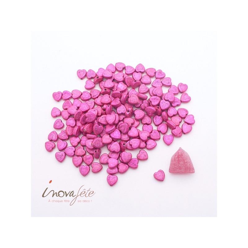 Mini Perle coeur rose fuchsia Label Fête Hillion