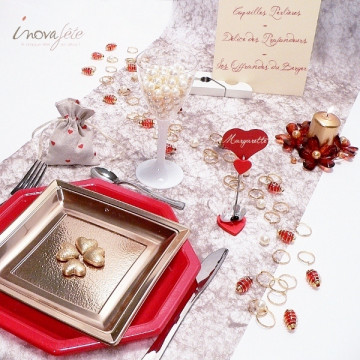Bois flotté rose fuchsia /20