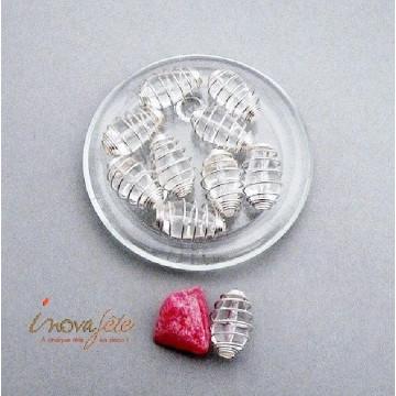 Perle transparente et argent Label Fête Hillion