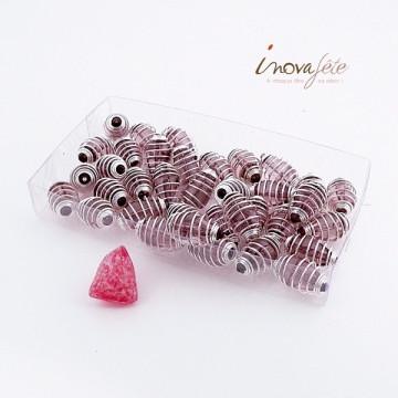 Perle prune et argent Label Fête Hillion
