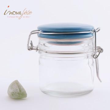 Petit pot conserve à couvercle bleu Label Fête Hillion