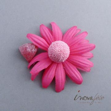 Déco tête de Gerbera rose Label Fête